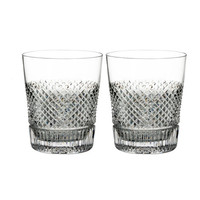 Waterford Crystal Diamond Line Double Old-Fashioned Glasses, Set of Two | Neiman Marcus