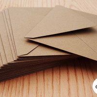 Kraft Brown Envelopes, 20pk, A7 Kraft Envelopes, 5x7 Envelopes, Kraft Paper Envelopes