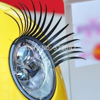 1 Pair Fashion Car Styling Black Eyelashes Decal