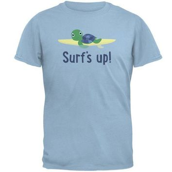 ONETOW Sea Turtle Surf's Up Summer Cute Mens T Shirt