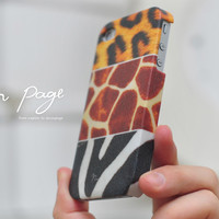 iphone case : mixing of leopard zebra giraffe furs