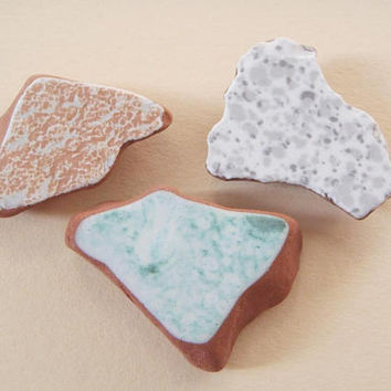 3 colored italian sea pottery beach pottery mosaic tile supplies terracotta diy surfer for mosaics sea finds destash ceramic lasoffittadiste