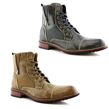 New Men's MFA-808561 Lace Up Military Combat Work Desert Boots