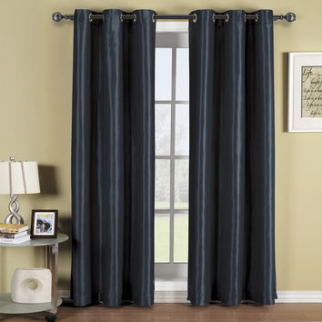 Soho Navy Grommet Blackout Window Curtain Panel