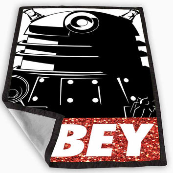 Doctor Who Dallek Obey Style Glitter Sparkly Blanket for Kids Blanket, Fleece Blanket Cute and Awesome Blanket for your bedding, Blanket fleece *