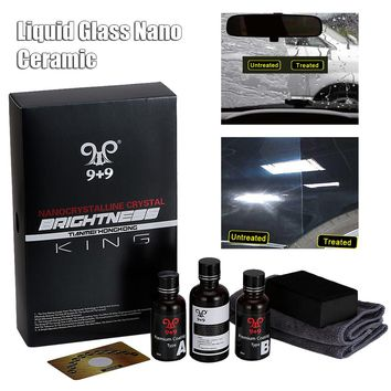9H Hardness Car Liquid Glass Coating Glass Nano Fluorine Plated Crystal  Ceramic Kit Car Paint