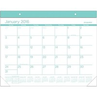 "2016 AT-A-GLANCE® Color Play Desk Pad Calendar, Teal, (SKCP24-42), 22"" x 17\"" 