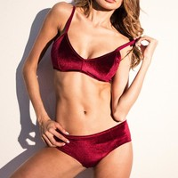 Cute Hot Deal On Sale Underwear Hot Sale Sexy Suede Set Exotic Lingerie [96255016975]