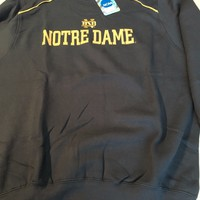 NOTRE DAME EMBROIDERED COLLEGE NCAA  SWEATSHIRT NAVY SHIPPING