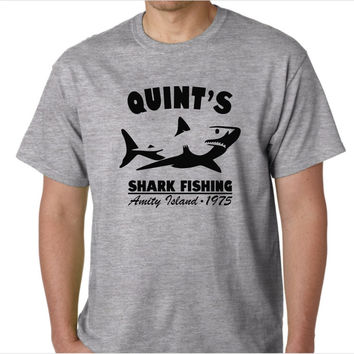 Jaws Quint's Shark Fishing Custom Made T-Shirt