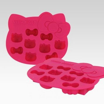 Hello Kitty Die-Cut Ice Cube Tray: Pink Fruits