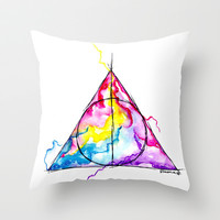 harry potter Throw Pillow by Simona Borstnar | Society6