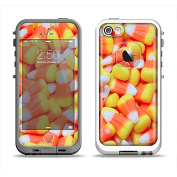 The Candy Corn Apple iPhone 5-5s LifeProof Fre Case Skin Set