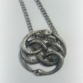 Silver Never Ending Story Auryn necklace