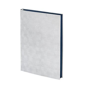 Millennial Journal  White Plaid Embossed Leather