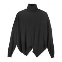 Stella McCartney Asymmetric Turtleneck Sweater - Black Turtleneck Sweater - ShopBAZAAR