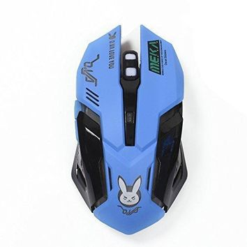 Gaming Mouse, Backlit Optical Game Mice Ergonomic USB Wired with 2400 DPI and 6 Buttons 4 Shooting for Pro Game PC Computer Laptop Desktop Mac (D.VA)