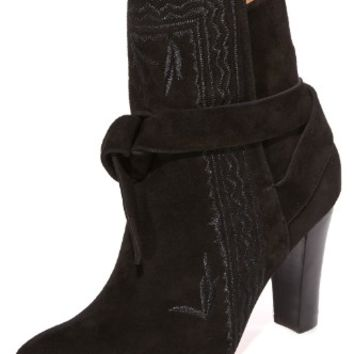 Aggie Embroidered Tie Booties