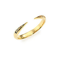 Mizuki - Icicle Diamond & 14K Yellow Gold Open Ring - Saks Fifth Avenue Mobile