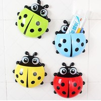 Lovely Ladybug Toothbrush Wall Suction  Bathroom Sets