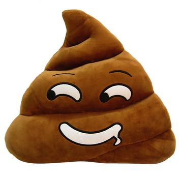 Cute Emoji Cushion Poo Shaped Pillow
