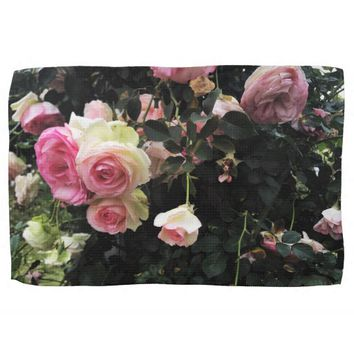 Spray of Pink Roses Hand Towel