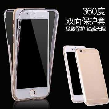 Ultra Slim Touch Screen Clear TPU  Full Cover Case For Samsung Galaxy S8 / S8 Plus / S7 / S7 Edge / iPhone 8 / 8 Plus / 7 / 7 Pl