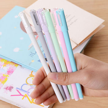 1PCS Korean stationery new color macarons gel pen suitable for adult students and office stationery