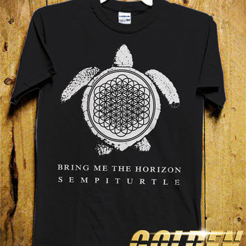 Bring Me The Horizon Sempiturtle - Dream Catcher Men T-Shirt - Turtle - Dream Catcher Design for Men T-Shirt (Various All Color Available)