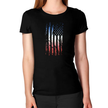 Abstract American Flag Women's T-Shirt