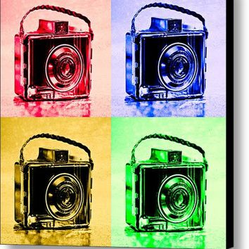 Pop Art Brownie Cameras Canvas Print