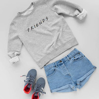 Friends TV show Sweatshirt-T-shirt-Long Sleeve, Girls Top from Friends TV, Unisex Style -  Friends Sweater