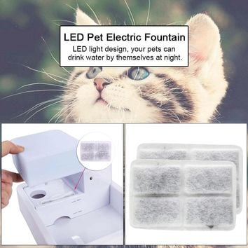 2 Pcs Automatic Pet Drinking Fountain Cat Dog Water Drink Dispenser Bowl Dish Filters Cat Automatic Feeders Accessories