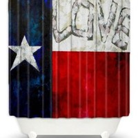 DiaNoche Designs Shower Curtains by Patti Schermerhorn Unique, Cool, Fun, Funky, Stylish, Decorative Home Decor and Bathroom Ideas - Love for Texas