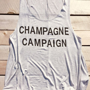 Champagne Campaign Tank Top