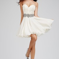Ivory Fit and Flare Homecoming 79236 - Homecoming Dresses