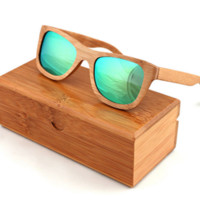 NEW Handmade Bamboo Wooden Polarized Vintage Sunglasses FREE SHIPPING