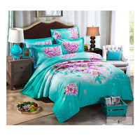 Cotton Active floral printing Quilt Duvet Sheet Cover Sets 2.0M/2.2M Bed Size 45