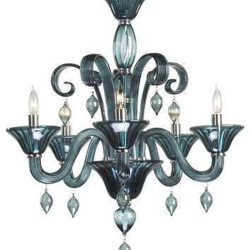 Treviso 5-Light Chandelier | Indigo Smoke