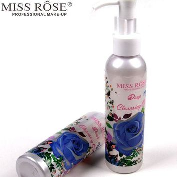 VONE05WA Miss Rose 1pc Makeup Remover Oil Deep Cleansing Press Pump for Eye and Lip Face Care Cleanser Gentle Zero Stimulation A158