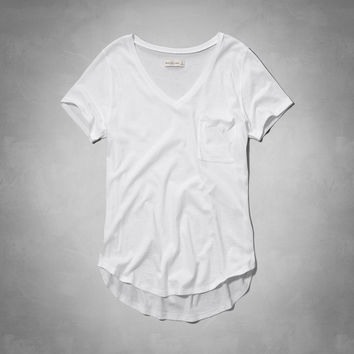 Classic V Neck Pocket Tee