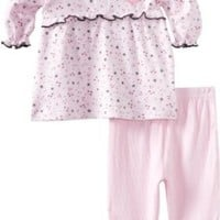 Rene Rofe Baby Newborn Girls Bunny and Heart 2 Piece Dress and Legging Set
