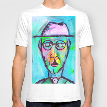 Man in color T-shirt by Yuval Ozery