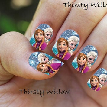Disney Frozen Elsa and Anna Full Nail Wrap