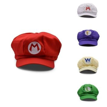 Super Mario party nes switch Hot Toys Super Super Mary Cosplay  Cosplay Clothes Halloween Costumes Cartoon Hats 5 Colors AT_80_8