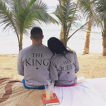 King and Queen Matching Couple Sweatshirt