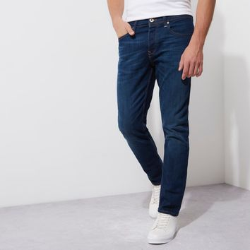Dark blue wash Dylan slim fit jeans - Slim Jeans - Jeans - men