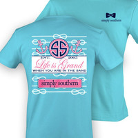 Simply Southern 'Life Is Grand' Shirt - Blue
