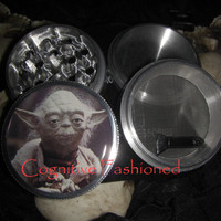 Star Wars Yoda 4 Piece Grinder Herb Spice Aircraft Grade Aluminum C.N.C from Cognitive Fashioned