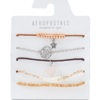 Rose Tusk Cord & Stretch Bracelet 5-Pack